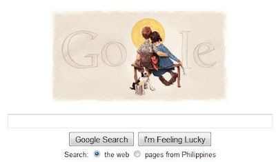 Norman Rockwell on Google Homepage