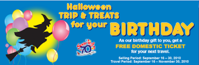 Philippine Airlines Halloween Trip and Treat for Birthday Treat: FREE DOMESTIC FLIGHT