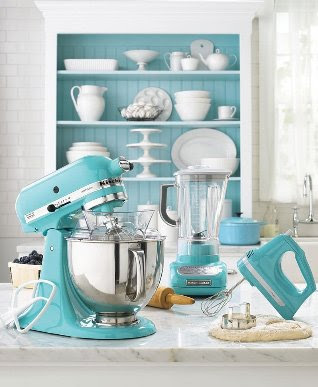 The Classic Kitchenaid Stand Mixer, The Hand Mixer And The Blender Now All  Come In Her Trademark Blue At Macyu0027s. See Order Info Below.