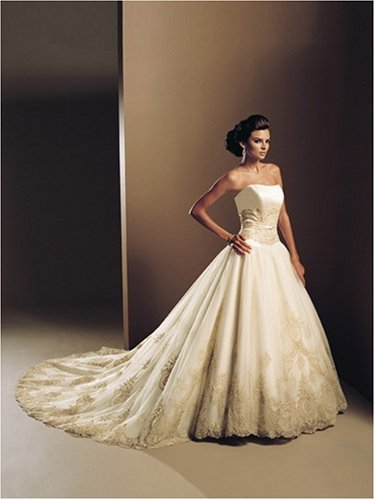 Designer wedding gown for Custom wedding dress designers