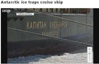 la nave russa bloccata dai ghiacci, from BBC