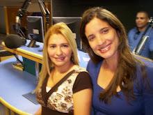 Valéria Rodrigues Com a Amiga e Apresentadora da Rádio PAZ FM de Goiânia-GO, MÁRCIA ALVES