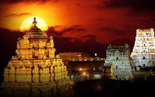 Thirupathi Temple Towers in Dawn<br />