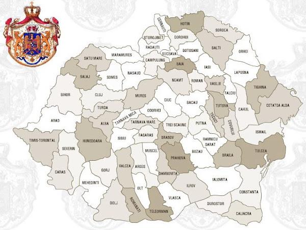 Harta României în perioada interbelică, între 1926 şi 1938