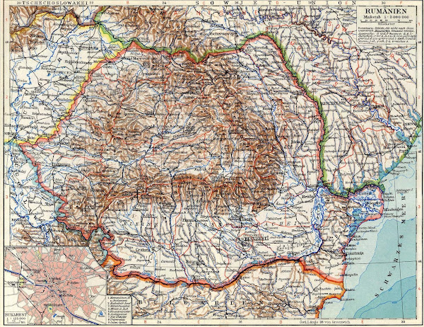 Harta României între 1950 şi 1952