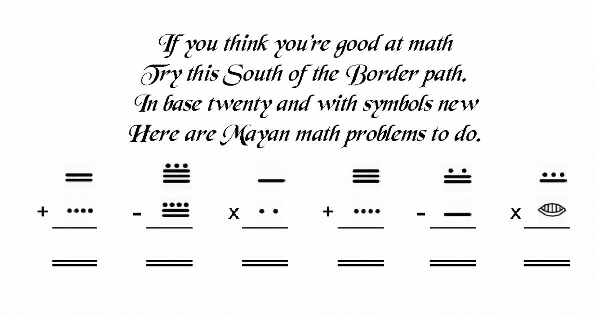Mrs Art Teacher mayan math – Mayan Math Worksheet