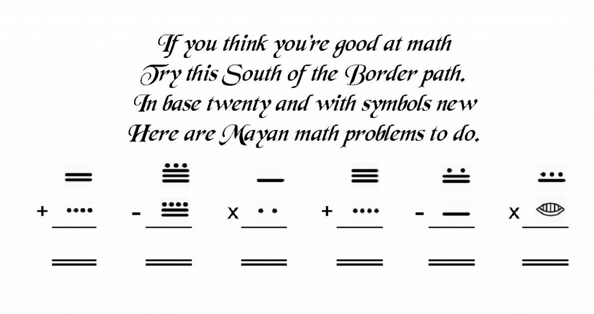 math worksheet : mayan math problems  educational math activities : Mayan Math Worksheets