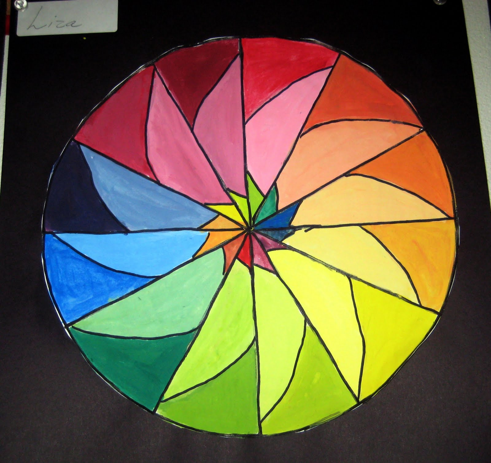 Each Color Wheel Showed Understanding Of Primary Secondary Intermediate And Complementary Colors Tint The Individual Project Is Preceded By A Group