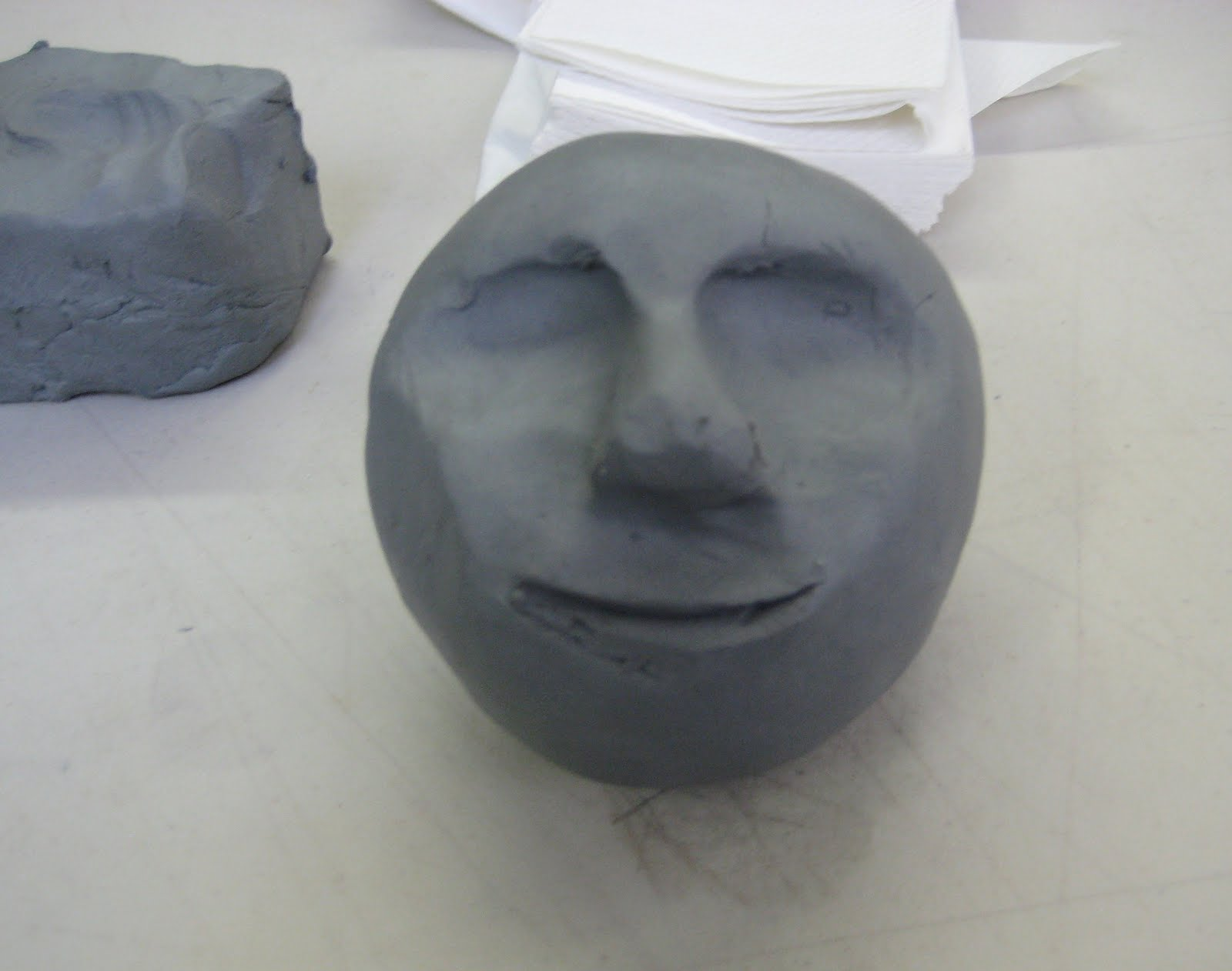 Mrs art teacher clay faces for How to make ceramic painting