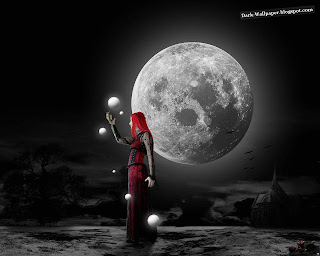 Girl and The Moon HD Wallpaper