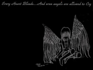 Every Heart Bleeds And Even Angels Are Allowed To Cry HD Wallpaper