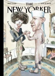 Michelle Obama and Barack Obama on The New Yorker Cover
