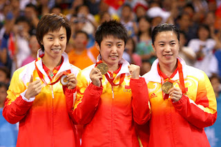 Team China (Zhang Yining, Guo Yue and Wang Nan)