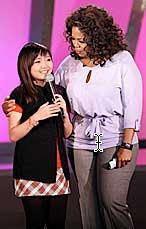 Charice and Oprah Winfrey