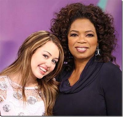 Celebrities on Twitter Oprah Miley Cyrus
