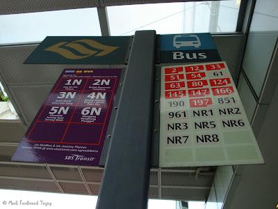 Singapore Bus Stop Signage
