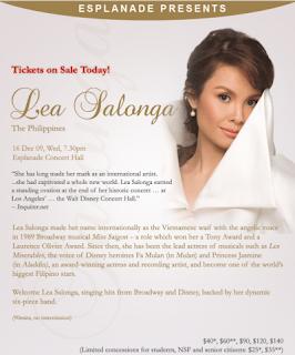 Lea Salonga Concert in Singapore