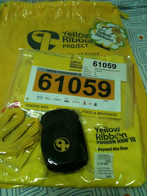 Yellow Ribbon Prison Run 2010 Goodie Bag