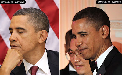 President Obama Before and After