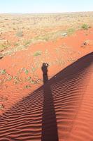 Louphi's shade down a dune