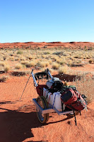 Getting closer to the geographical center of the Simpson desert