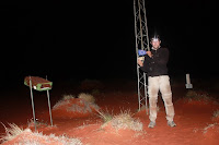 louphi showing european flag at geocenter of simpson desert