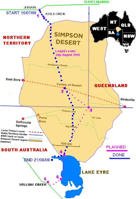 simpson desert trek sattelite map end