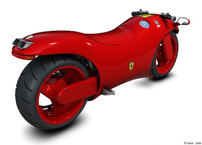 2 Ferrari Red High Power Bike