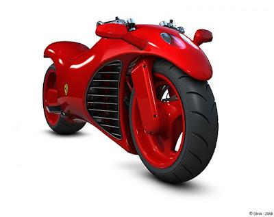 3 Ferrari Red High Power Bike