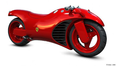 1 Ferrari Red High Power Bike