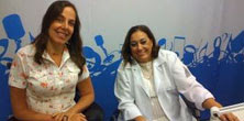Mara e Drª Albetina juntas no Estúdio da Eldorado