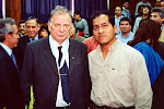 Picture of the nobel prize in physics (2000) Zhores Alferov with me (Lima-Peru)
