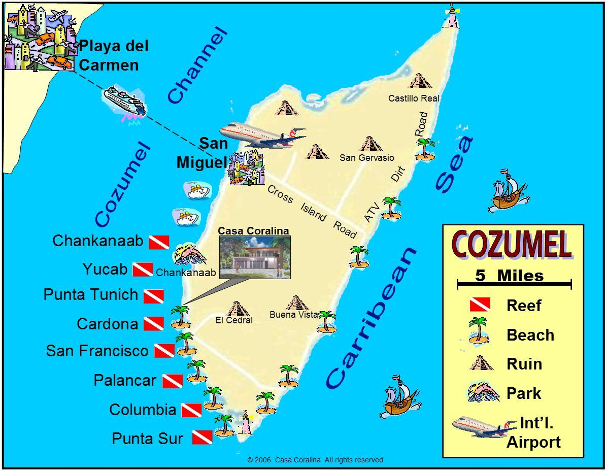 Cozumel Mexico Map Images