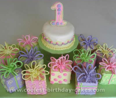 Girls Birthday Cakes or Baby Shower. This would also be beautiful for a
