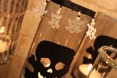 Glam Goth Halloween Candles     OHMY-CREATIVE.COM