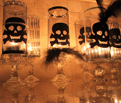 Glam Goth Halloween Candles  |  OHMY-CREATIVE.COM