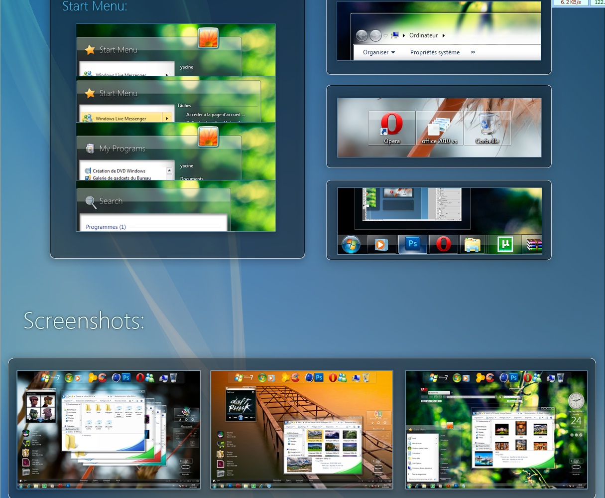 HTC Dream PSD Template GUI