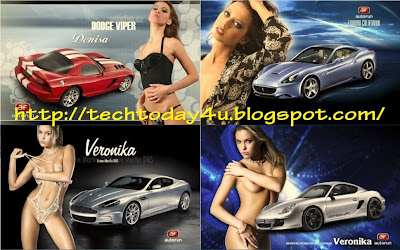 Hot n Sexy Babes Cars Theme