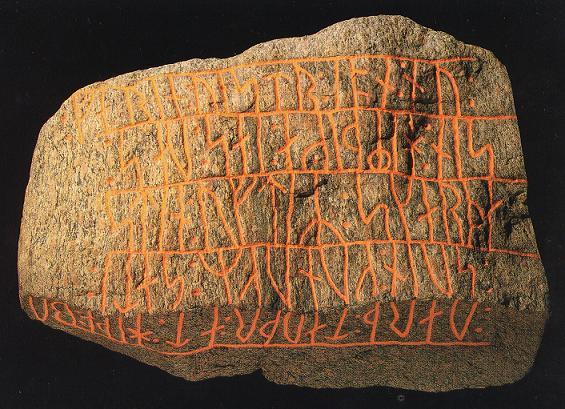 Gedenksteen met Runen