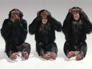 Three monkeys. See, hear and speak no evil