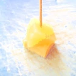 Cheese and Pineapple on a stick