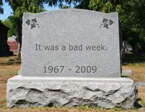 My gravestone
