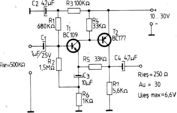 electronik  preamplificator cu tranzistoare