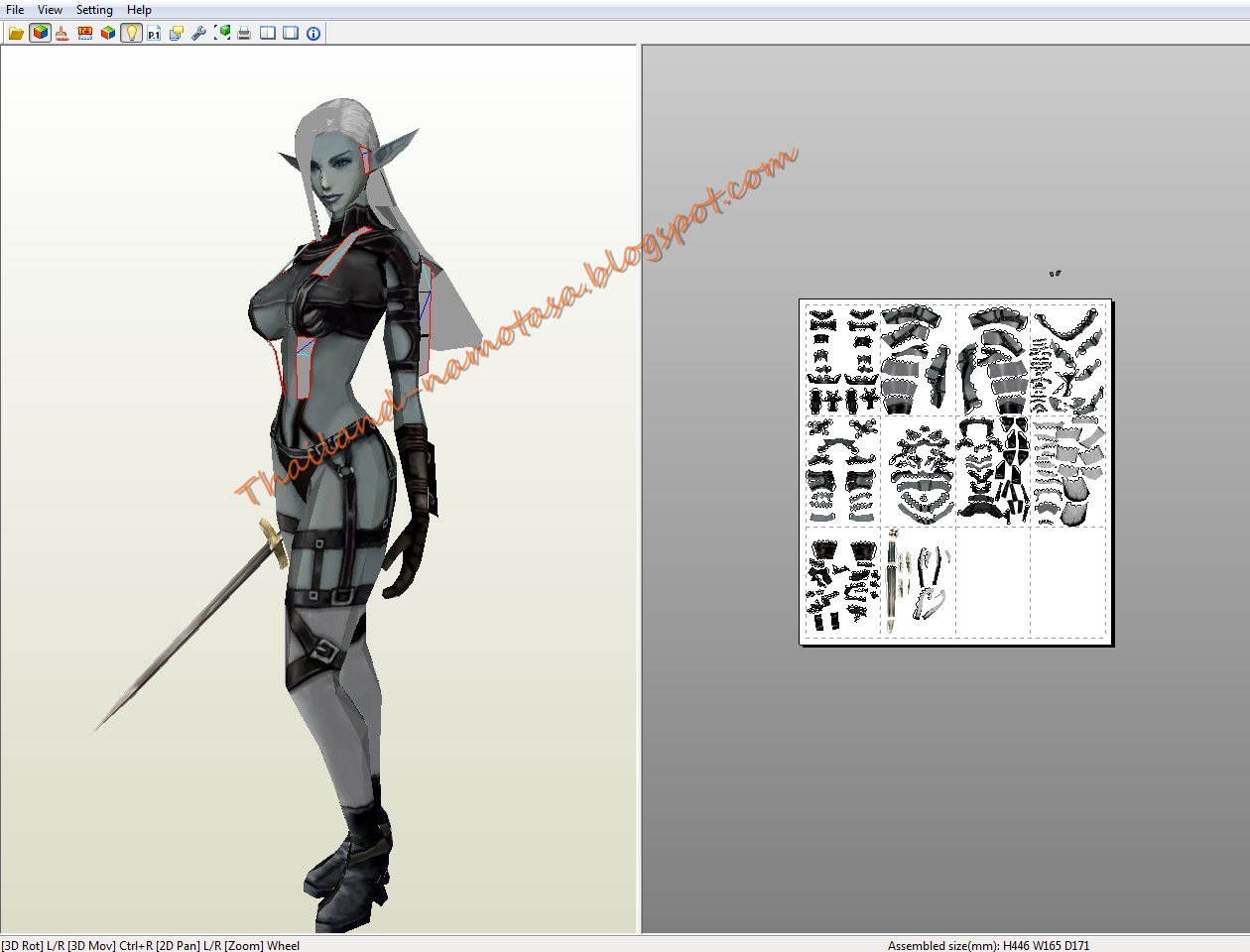 : Lineage2 : Dark Elf Blue wolf heavy armor   female dark elf fighter