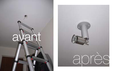 Pierre paris installer un spot plafonnier - Installer un plafonnier ...