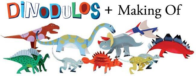 Dinodulos, 12 dinosaures à assembler et à peindre