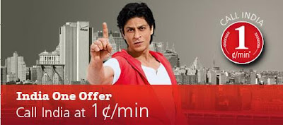 AirtelCallHome 1cent per minute to India