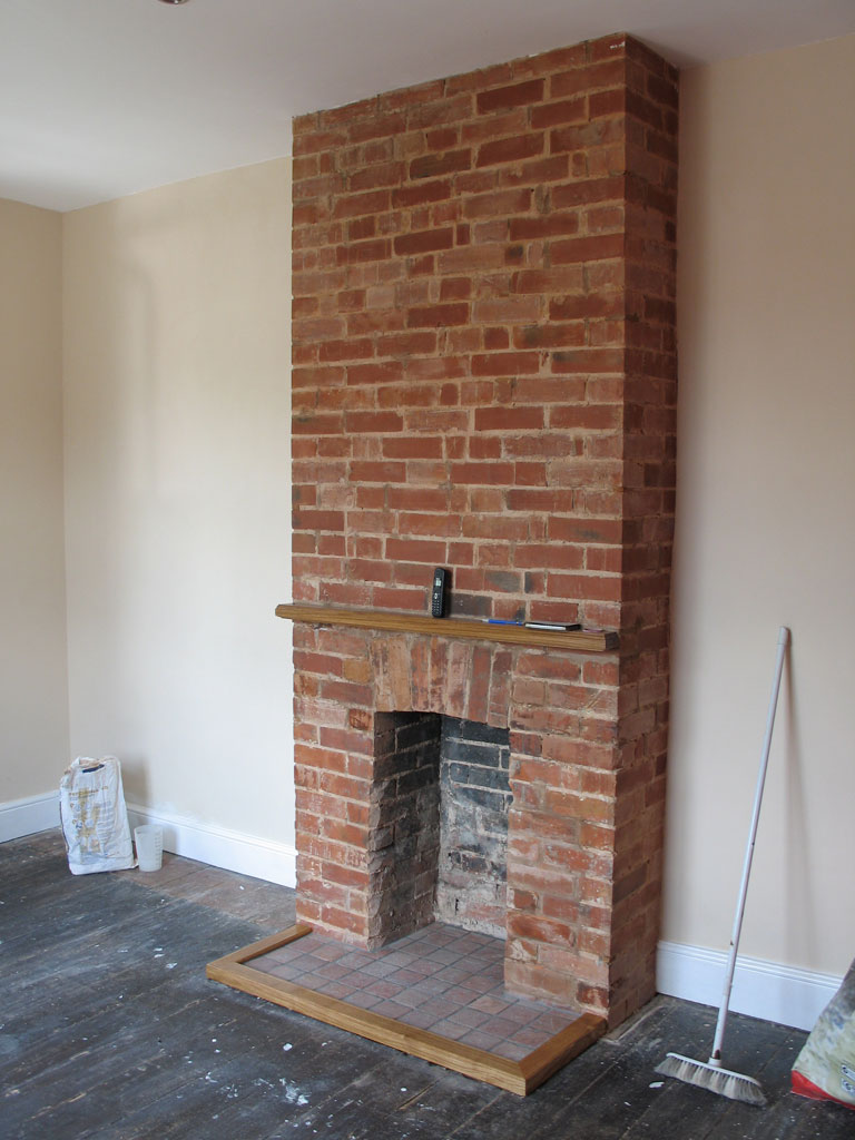 Chimney breast feature wall chimney breast feature wall for Tiled chimney breast images