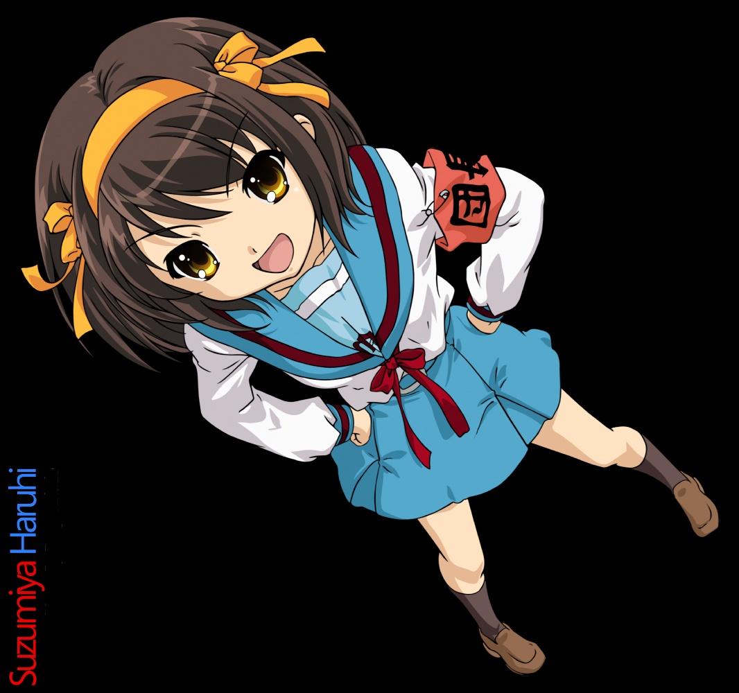the zeonic geofront: lonecow's top 10 anime women - haruhi suzumiya