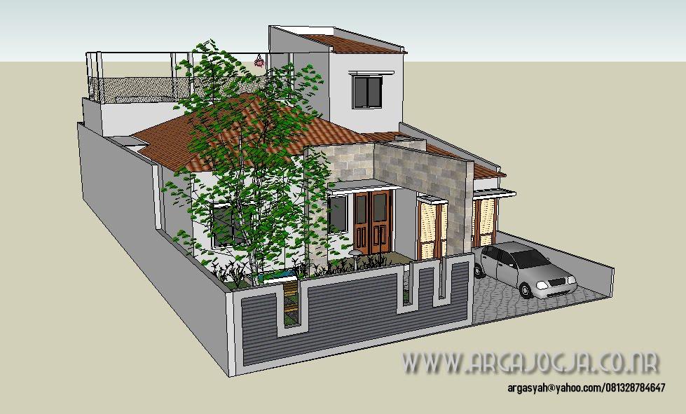 Rumah Minimalis Lebar 5 Meter Lebar 10,5 Meter